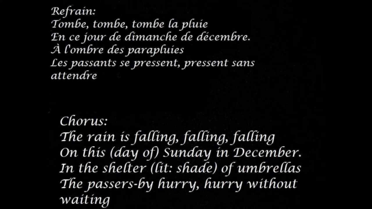 La rencontre lyrics in english