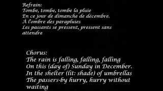 zaz-la pluie lyrics (English and French)