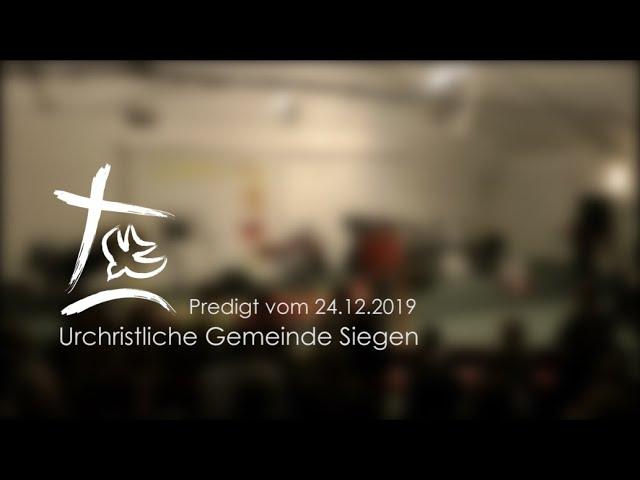 UGS - Weihnachtsandacht vom 24.12.2019 - Stefan Rubertus