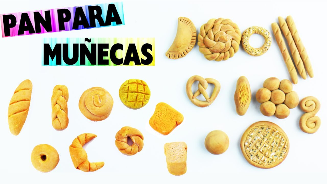 Recopilaci n de manualidades 20 tipos de panes hechos con arcilla polim rica - Como hacer blanco roto ...