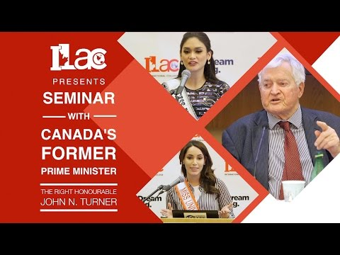 ILAC - Seminar with the Former Prime Minister of Canada