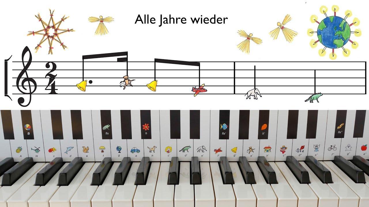 Weihnachtslieder fürs Klavier. Schau rein in das kurze Medley von ...