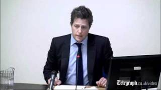 Hugh Grant at the Leveson Inquiry_ I suspect Mail on Sunday hacked my phone