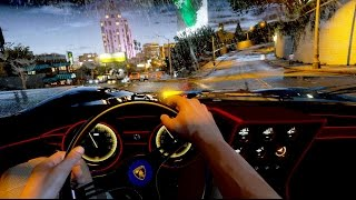 GTA 5 PC LAMBORGHINI FPV TEST ENHANCED motion blur MAX SETTINGS