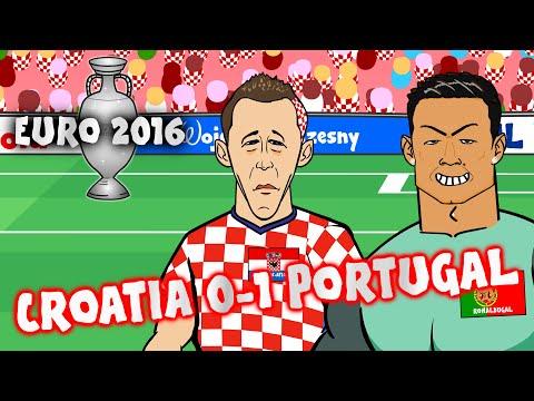 Croatia vs Portugal - Quaresma goal and highlights! (0-1 Euro 2016 France Last 16)