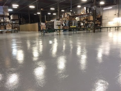 Industrial Warehouse Epoxy Floor Coating  YouTube