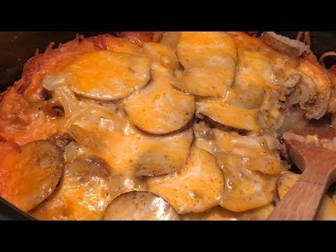 Crockpot Beef & Potato Au Gratin | Southern Sassy Mama
