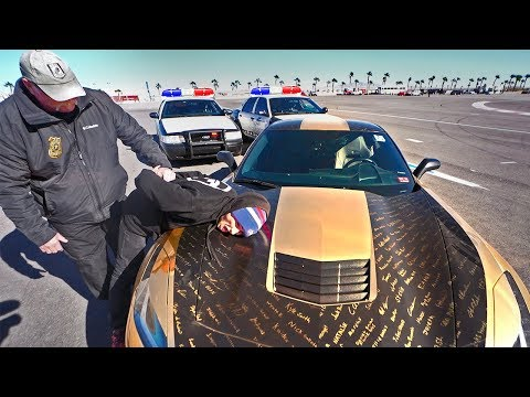 I ran from the cops....but they CAUGHT ME |Police chase|