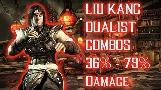 Mortal Kombat X - Liu Kang (Dualist) Combos 36% - 79% Damage [Old Patch] ᴴᴰ