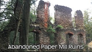 Abandoned 1700's Paper Mill & Ghost Town NJ Pine Barrens Harrisville
