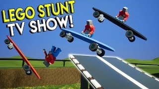 LEGO SKATEBOARD STUNTS & JUMPS! - Brick Rigs Multiplayer & Gameplay Challenge - Lego Stunt TV Show