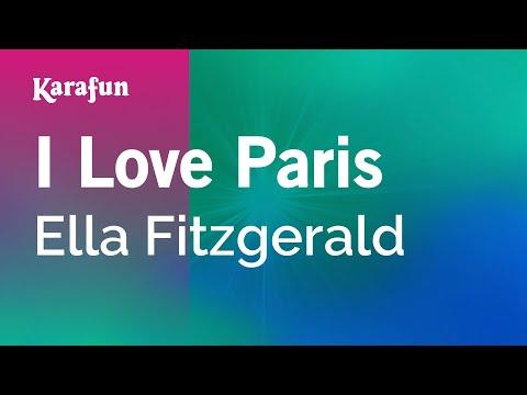 Karaoke I Love Paris - Ella Fitzgerald *