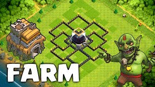 LAYOUT HÍBRIDO FARM/PUSH CV7 ATUALIZADO 2017 - Clash Of Clans