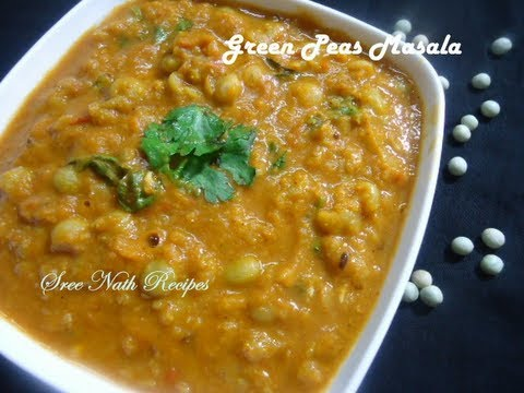 Green Peas Masala Curry Side Dish For Chapathi And Puri