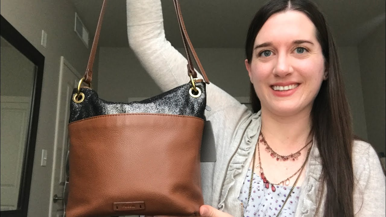 Keely Tote Fossil Handbag Canvas What In Purse Bucket Crossbody Youtube 1280x720