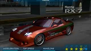 Need for Speed Underground - All The Fast and the Furious and 2 Fast 2 Furious cars