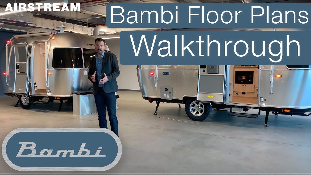 Airstream Bambi Floor Plans Walkthrough And Comparison 16rb 19cb 20fb 22fb Youtube