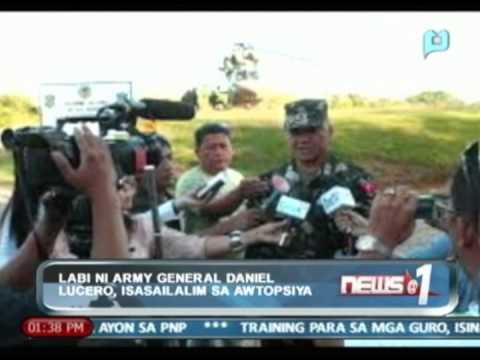 News@1: Labi ni Army General Daniel Lucero, isasailalim sa otopsiya