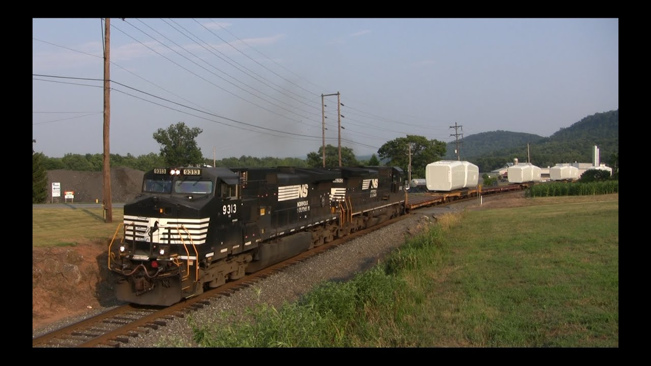 Norfolk Southern Windmill Train On Former Reading Belt Line Youtube