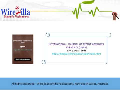 International Journal of Recent advances in Physics (IJRAP)