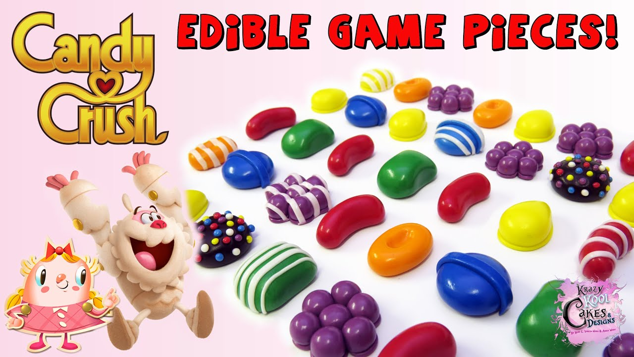 Candy Crush Cake & Cupcake Toppers TUTORIAL