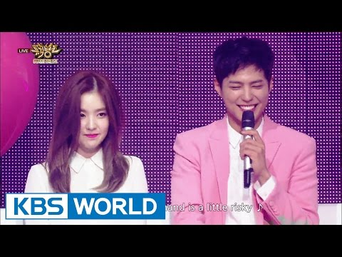 Park Bo Gum & IRENE - 45.7cm [Music Bank Goodbye MC Special / 2016.06.24]
