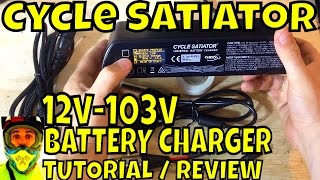 Cycle Satiator • Complete Tutorial Review • Programmable Universal Battery Charger 12v to 103v