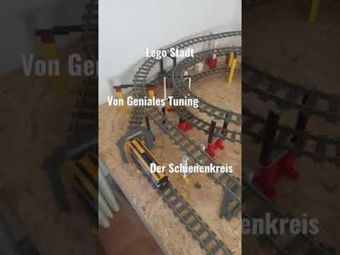Lego Stadt Schienenkreis fertig!