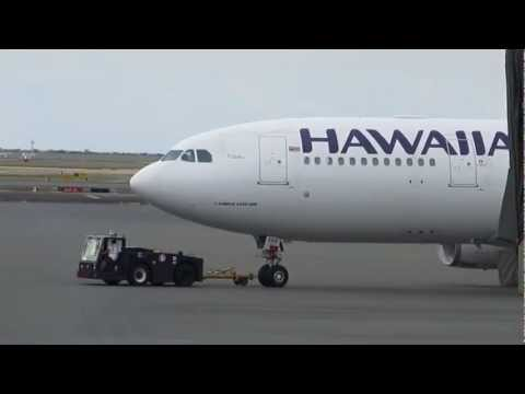 Hawaiian Airlines Airbus A330 Honolulu International Airport Oahu Hawaii