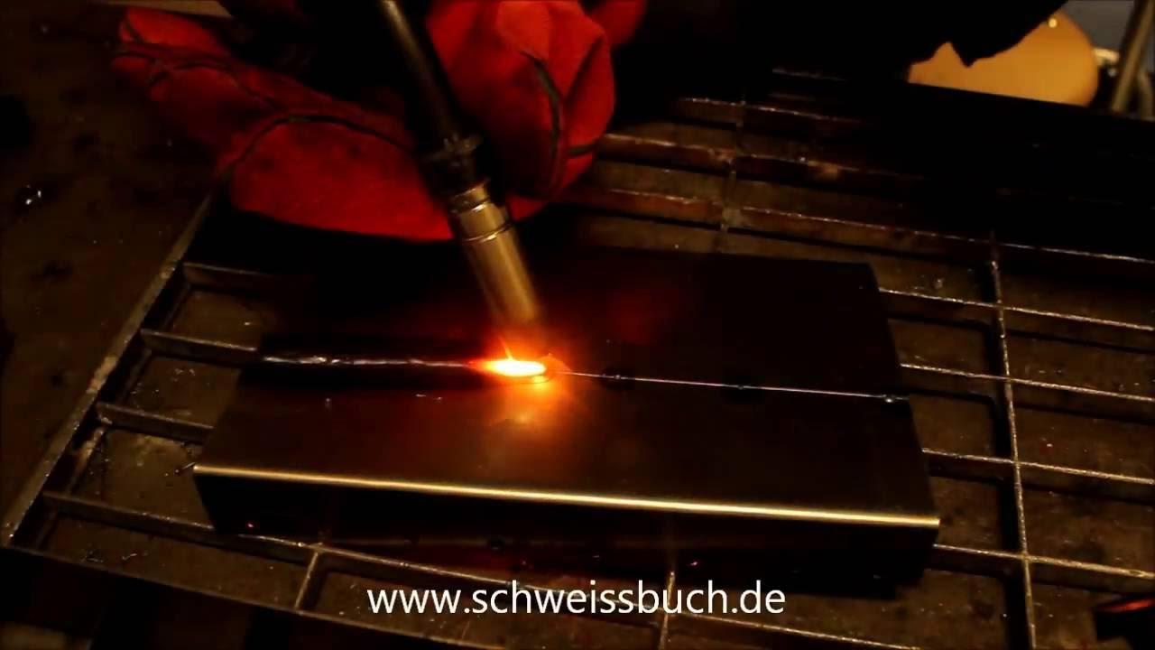 Blech Schweißen (0,8 mm Stahl, Stumpfnaht MIG/MAG) - YouTube