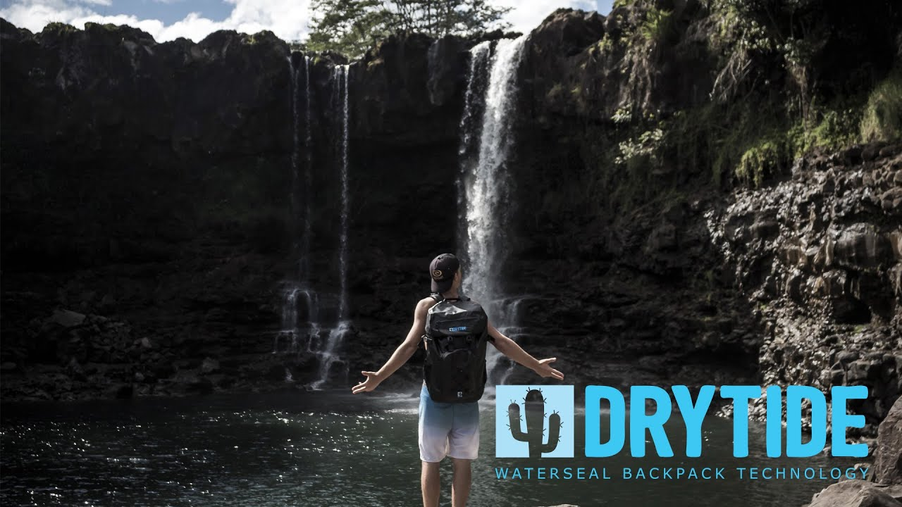 78e49da0c8fc DryTide Waterproof Travel Backpack Meets River and Waterfall - YouTube