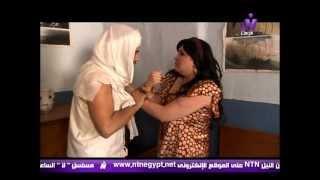 محاولة اغتصاب صفية (بثينة رشوان) من الشقى نفادى (فادى غالى) - النار و الطين 2012