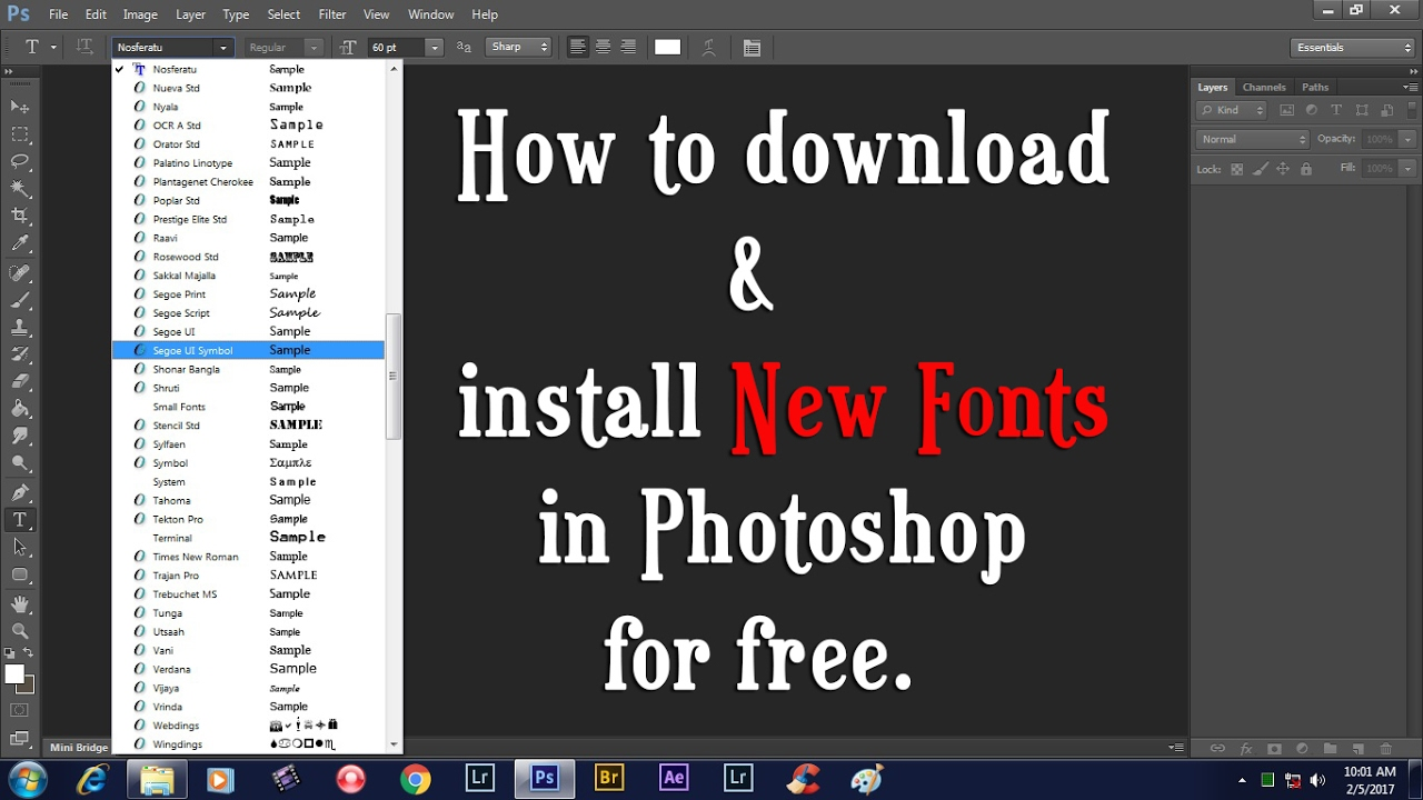 To fonts how to download photoshop
