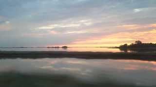 Arrivo a Grado con tramonto sulla laguna 20/08/13