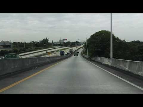 Uptown Interchange: Interstate 95 southbound (Express Lanes) to FL 112 westbound
