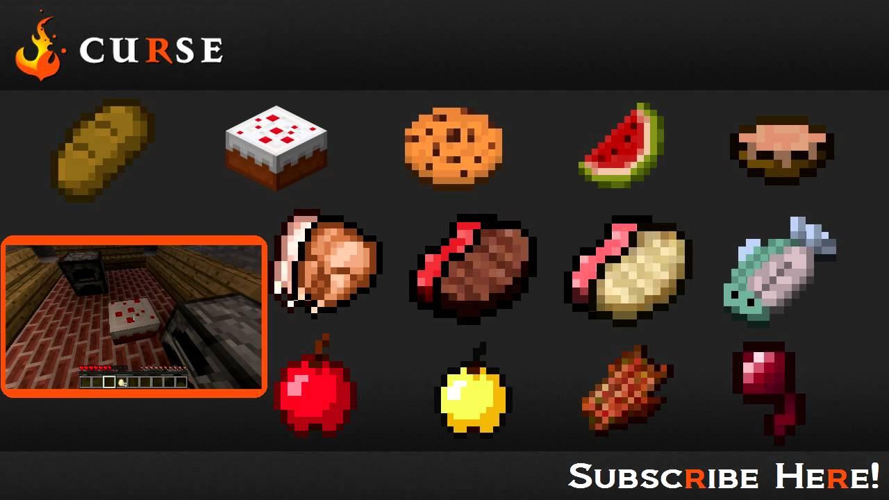 Minecraft Blocks & Items: Food (+Hub)