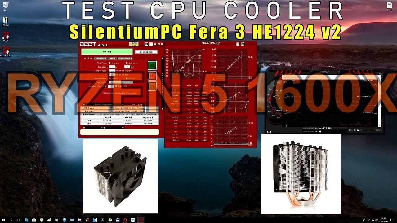 Test CPU Cooler [ SilentiumPC Fera 3 HE1224 v2 ] Ryzen 5