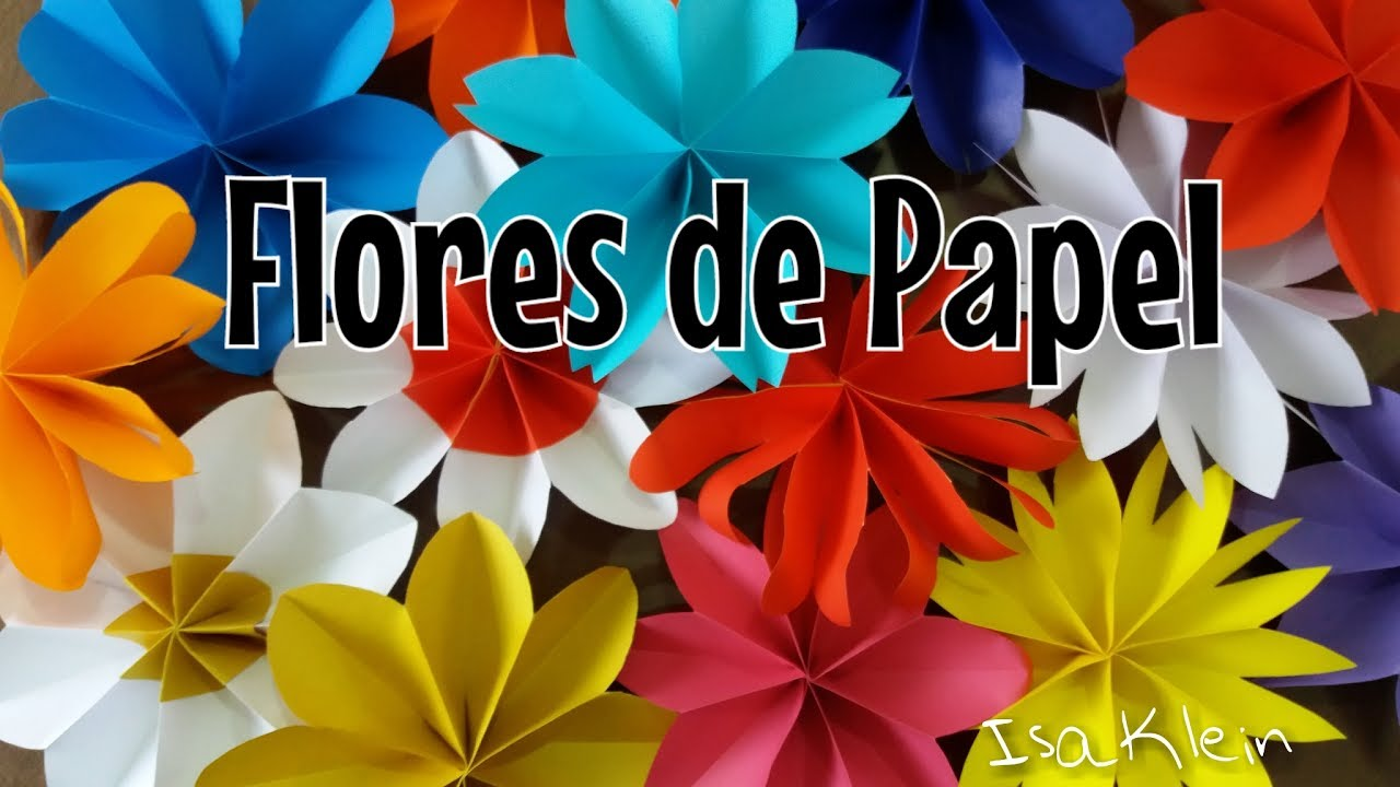 Decoraç u00e3o de festas flores de papel YouTube