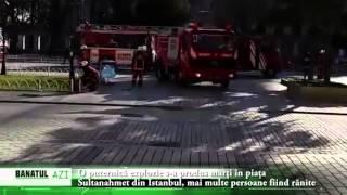 O puternică explozie s a produs marţi în piaţa Sultanahmet din Istanbul, mai multe persoane fiind ră