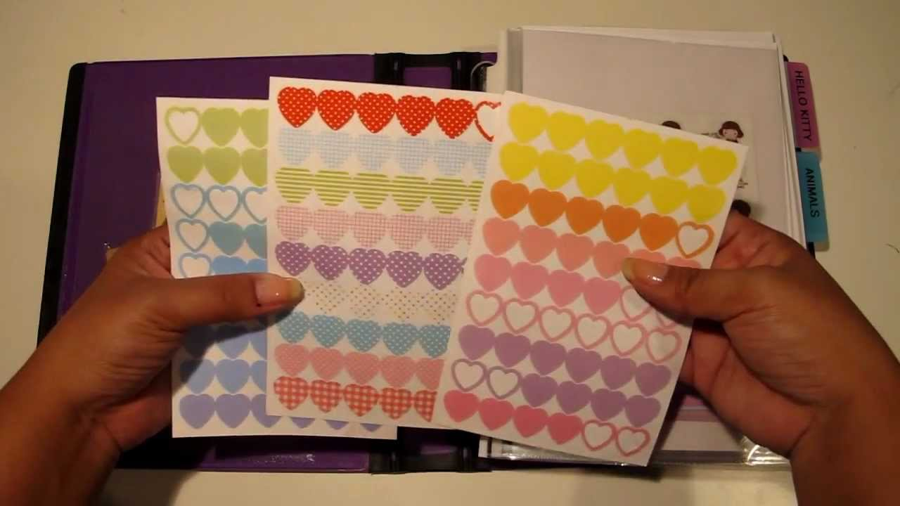 Diy file folder box to organize your stickers youtube - How To Organize Stickers