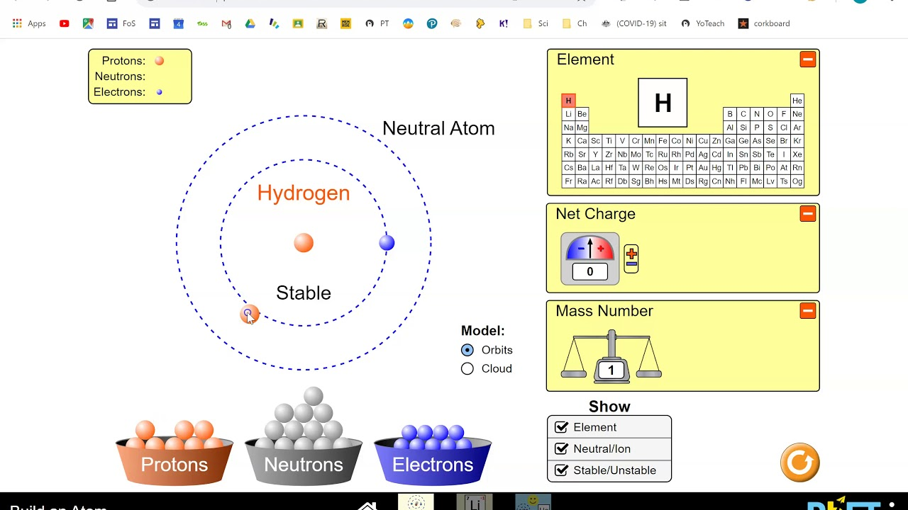 How to Build an Atom   Phet Simulation   YouTube