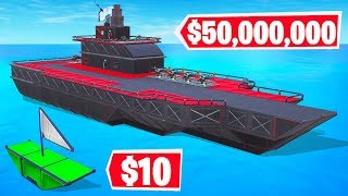 FORTNITE BUILD a CUSTOM BOAT Challenge! (Fortnite Creative)