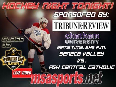 MSA Sports Hockey Spotlight - Playoffs:  Seneca Valley vs. Pgh. Central Catholic  3/15/17