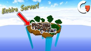 MY ENTIRE SERVER PLAYS ON ONE SKYBLOCK ISLAND! PRIZES FOR THINGS!! MC.Performium.net