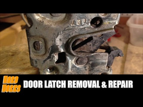 Door Latch Removal Repair Youtube