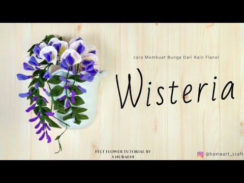#DIY Wisteria Felt Flower Tutorial - How To Make Wisteria Felt Flowers