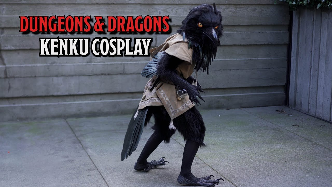 stunning d d cosplay brings kenku to life youtube