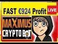 #2 Maximsu-CryptoBot (STOCKS vs FOREX Trades FAST CASH) €924 FAST PROFIT💰💰💰