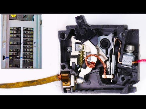 How a Circuit Breaker Works in Slow Motion - Warped Perception - 4K