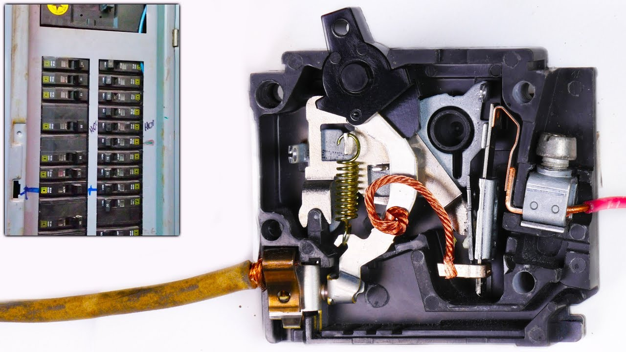 How A Circuit Breaker Works In Slow Motion Warped Perception 4k To Turn Off Electrical Basics
